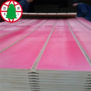 melamine laminated slotted mdf board with aluminum strips