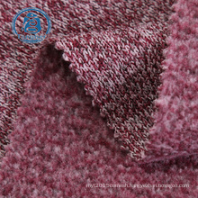 Hot Sale Cationic Dye Hacci Knitted Poly Brushed Back Fleece Fabric