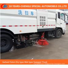 6wheel Foton Dry Type Wet Type Sweeper Truck