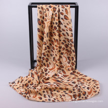 New style good quality colourful custom made printed leopard ladied hijab scarf dubai