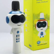 V11 Blue Tooth Wireless Karaoke Microphone Speaker Support USB TF CARD FM RADIO With Disco Light Blue Tooth Speaker