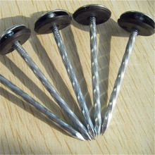 Twisted Shank Umbrella Roofing Nail with Rubber Washer