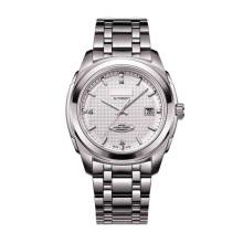 Acier inoxydable Mens Wristwatch Mouvement mécanique automatique complet