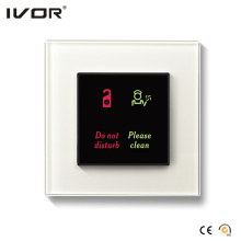 Hotel Doorbell System Indoor Panel Glass Frame (HR-dB1000S2-GL)