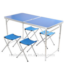 Niceway moda tendência foldable metal mesa de piquenique mesa de piquenique