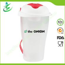 Venta al por mayor taza de Shaker de ensalada personalizada, grado alimenticio