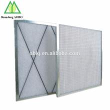 filtros de aire plisados primarios industriales G3 G4 del marco de aluminio