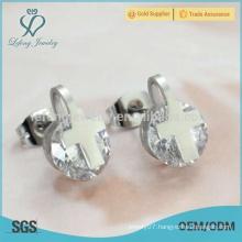 Hot sale bali jewelry silver crystal earring stud wholesale