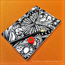 Cuaderno de papel reciclado personalizado clásico de calidad MWN-77, cuaderno de papel escolar negro