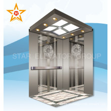 Espejo grabado inoxidable 1000kg ascensor de pasajeros para el restaurante