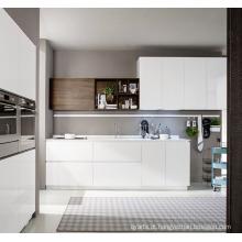 Armário de cozinha simples de laca de MDF branco