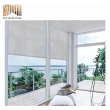 janela ao ar livre duplo protetor solar rolos de tecidos cegos