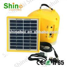 Livre de poluição ultra brilhante lanterna acampamento solar compacto levou lanternas carregador de telefone USB porta