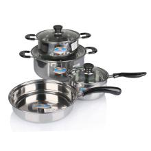 Set de utensilios de cocina de acero inoxidable de 8 piezas