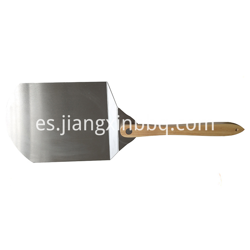 10 Inch Stainless Steel Foldable Pizza Peel Side View