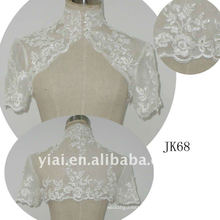 JK68 women Beaded Long sleeves wedding jacket