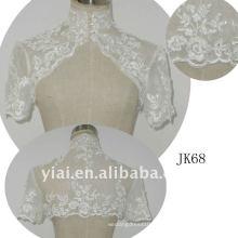 JK68 женщин из бисера с длинным рукавом свадебное куртка