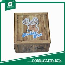 Caixa de papelão ondulado decorativo