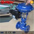 válvula de luva de regulagem pneumática flangeada de alta qualidade