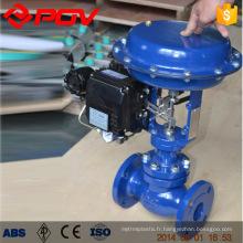 Soupape de commande de pression de débit de vapeur de type à diaphragme de commande pneumatique