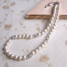 Fake White Pearl Necklace Smycken