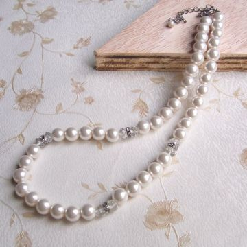 Fake White Pearl Necklace Jewelry