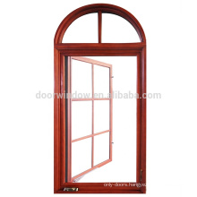 wooden aluminum arched shaped round window for sale
