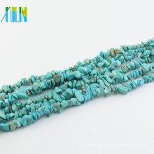 Acessórios de colar semi pedra preciosa pedra turquesa chips para jóias