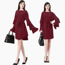 Modest fashion premium M-7XLwomen dresses musulmán 2017 ropa islámica blusa de mujer