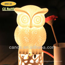 Creative Animal Owl Crystal Lámpara de mesa