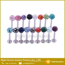 Pas cher en acier inoxydable charme labret anneaux à lèvres anneaux goujons piercing bijoux