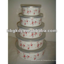 Emaille Mischbehälter mit PP Deckel