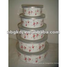 recipiente de almacenamiento de mezcla de esmalte con tapa de PP