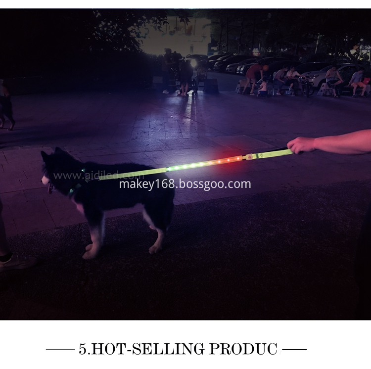 Rechargeable Rgb Led Dog Leash
