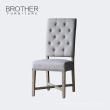 Meubles de salle à manger de style antique de mode tissu en bois à manger chaise