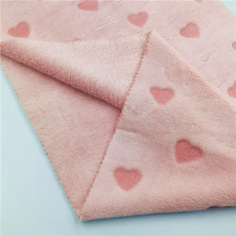 Pink Flannel Fabrics For Cloth