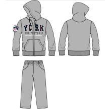 Chándal de hombre de moda y traje de jogging en ropa deportiva para hombre (SQM-105)