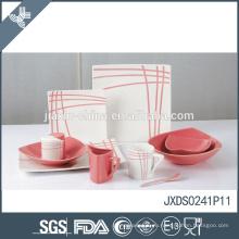 41шт фарфор оптовые теплостойкие милые розовые и белые керамические посуда