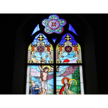 Factory Price Tempered Construction-real-estate Stained Glass