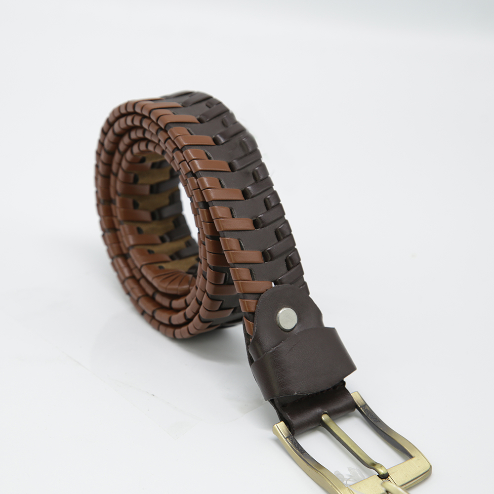 Men's Braided Stretch PU leather Casual Waist Belt