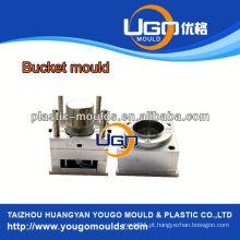 Fábrica de moldes de balde de injeção de polimento alto / novo molde de balde de pintura de design na China