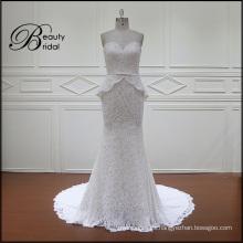 Vestido de novia de encaje sirena sin espalda sexy