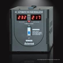 Scientek Type de relais Affichage LED Régulateur de tension automatique