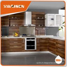 Excellente armoire de cuisine en mélamine, armoire de cuisine à plat, armoire de cuisine battue