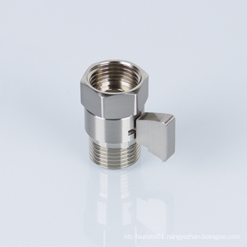 Bathroom Accessories Brass Brushed Nickel Shower Head Flow Control Valve