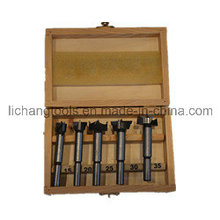 5PCS Wood Working Forstner Bit Set with Wood Box