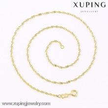 Nouveau collier de chaîne en or simple design saoudien or design