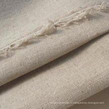 21s Tissu en lin en coton, lin en coton Tissu simple