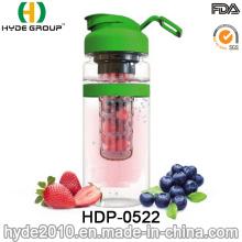 Botella de agua del infuser de la fruta nuevamente plástica 2016, botella de la infusión de la fruta de Tritan (HDP-0522)