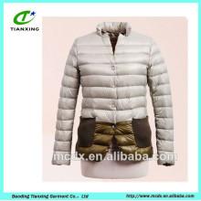 nova chegada contraste cor senhoras jaqueta de inverno
